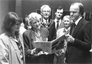 Jean and Steve Cliffe talking to the Mayor and Mayoress in 1988