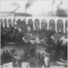 Viaduct in 1842 from Hollywood