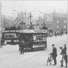 Trams and cyclists on Wellington Rd.1900s